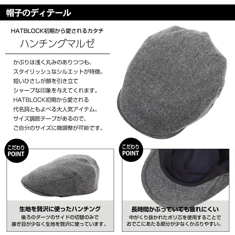 帽子のディテール ハンチング