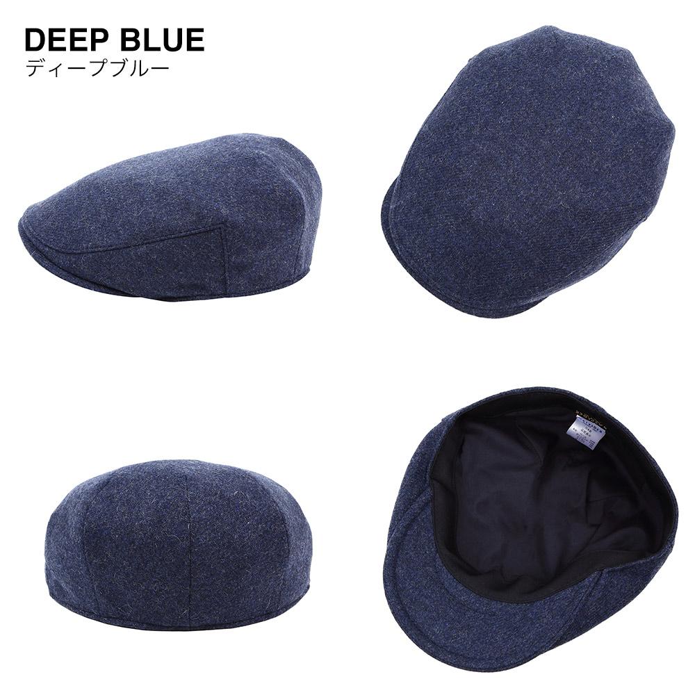 ディープブルー ネイビー 帽子