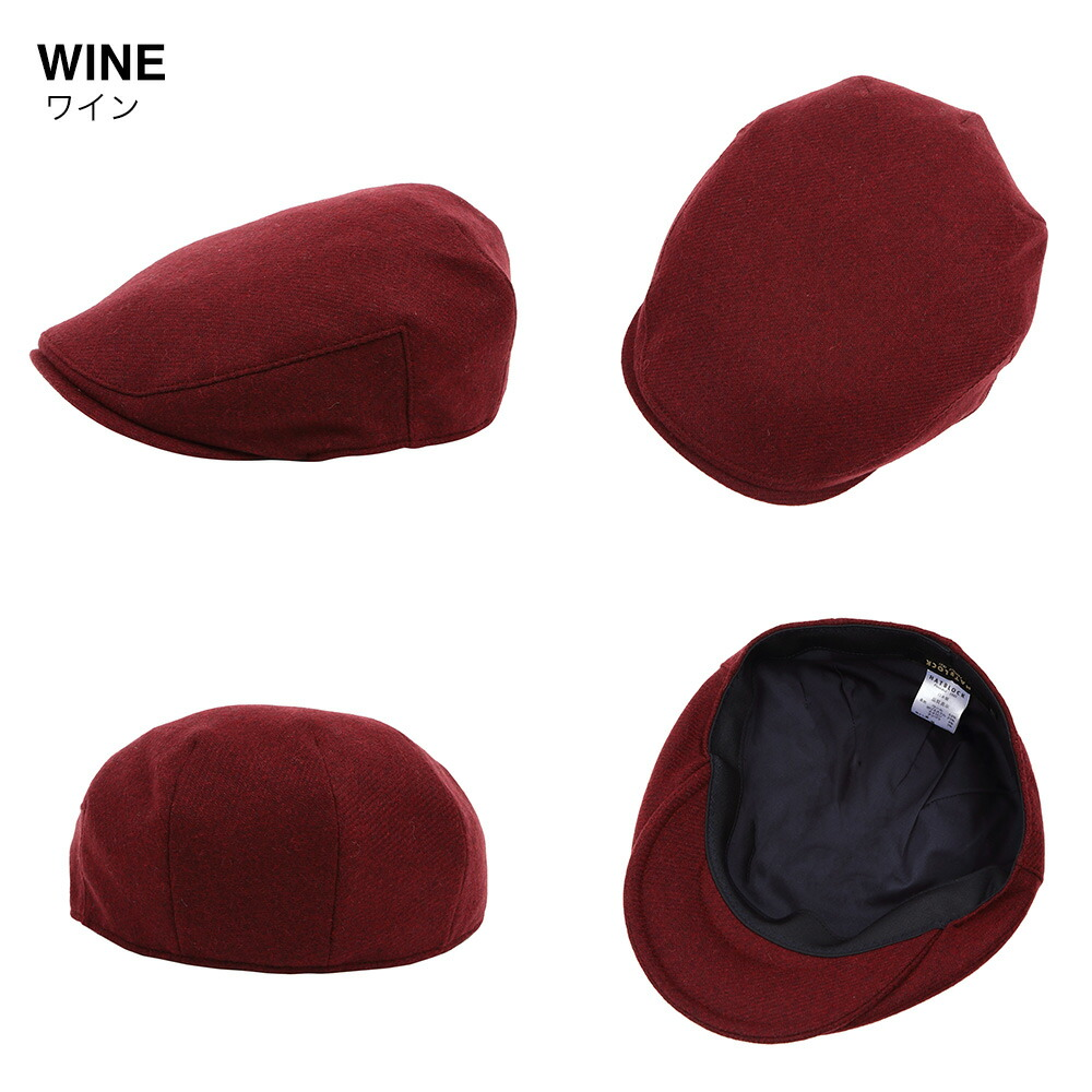 ワインレッド 帽子